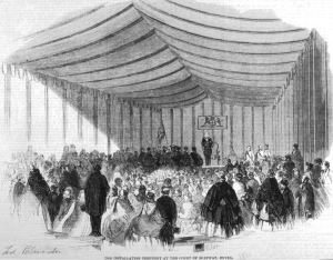 The installation of the Lord Palmerston as Lord Warden in1861. Dover Museum