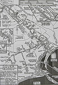 Map of Dover's Corporation Tramways