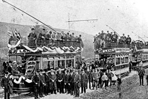 Opening of the Tramline extension to River 2 October 1905. Dover Museum