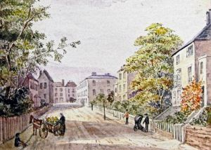 Pencester Road by Mary Horsley 1893. Dover Museum