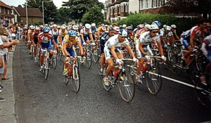 Tour de France race going along Folkestone Road 1994. Dover Museum