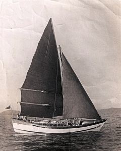 Boleh, built in Singapore and sailed to Salcombe in the UK 1950 under Commander Robin Kilroy. Thanks to Roger Gray