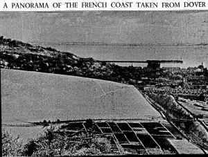Coast of France from Old Park published in the Times 09.05.1932 by Ilford Films using the new filter and Selochrome film