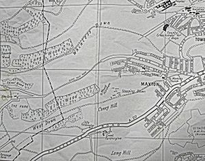 Farthingloe, Maxton & Elms Vale - Bartlett's street map pf Dover c 1960s.