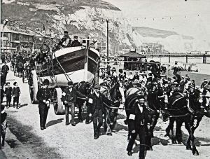 Lifeboat Parade on Dover Seafront 1901. Dover Library