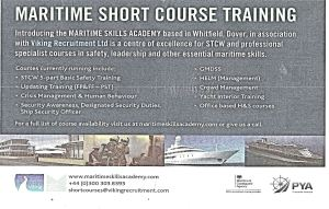 Maritime Skills Academy advert, Old Park. Dover Express 10 December 2015