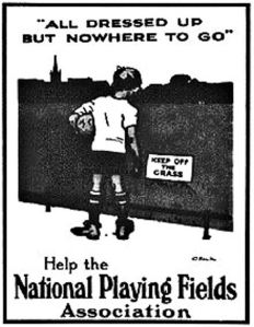 National Playing Fields Association advert c1930