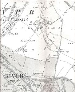 Map of the Old Park Mansion estate 1919