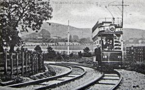 River Tram with Crabble Athletic Ground in background