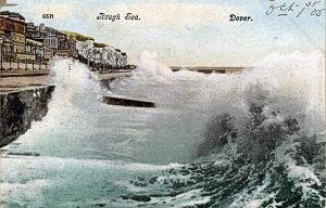 Rough Sea at Dover 01.10.1905. Dover Museum