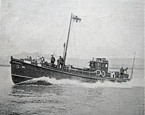 The RNLI Sir William Hillary Lifeboat, built 1930 and based at Dover primarily to rescue pilots and passengers on aircraft coming down in the Channel.