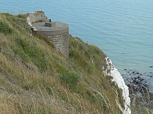 WWII Gun Emplacement Round Down Cliff. AS 2014
