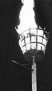 Beacon similar to one used to warn of the Armada invasion 1588. Dover Museum