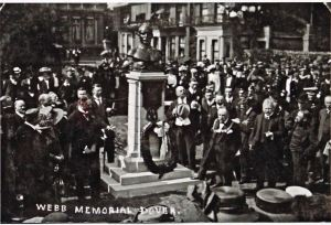 Captain Matthew Webb - Unveiling of the Dover Memorial by Lord Desborough 3 June 1910 Clarence Lawn. Thanks to David G Atwood