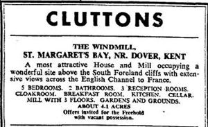 Cluttons advert for the St Margaret's Windmill. August 1972