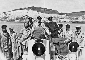 Coxswain Johnny Walker and crew aboard Southern Africa. RNLI-Dover