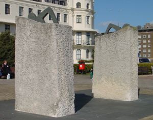 'Crest of the Wave' sculpures by Ray Smith 1995 on Dover's Seafront.  Alan Sencicle 2009