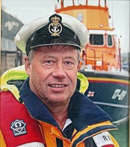David Pascall Coxswain 1999-2003 who died suddenly in 2008. Dover-RNLI