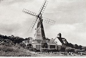 St Margaret's Bay Windmill, showing house and living quarters below the Windmill. Dover Museum