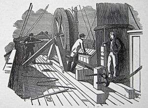 Submarine cable showing break in cable. Illustrated London News 14.05.1853