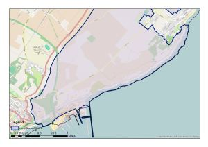 Swingate Downs, east of Dover Castle, an Area of Outstanding Natural Beauty (AONB) - openstreetmap thanks to Protect Kent - Branch of the CPRE