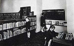 Junior Library following the opening in Decemeber 1963. Dover Library