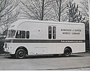 Mobile Library van introduced in 1968, six years before Dover library services came under KCC. Dover Library