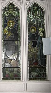 St Vincent Sisters of Charity depicted in one of St Paul's Church windows. LS 2011