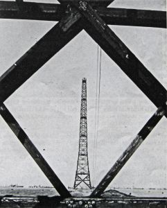 Swingate timber receiving tower erected by William Harbrow of St Mary Cray. William Harbrow Ltd 1936