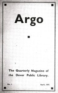 Argo - the Library magazine published quarterly from April 1937 to Summer 1939