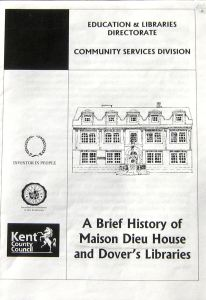 Golden jubillee celebration of the Library at Maison Dieu House booklet by Keth Howell 2002