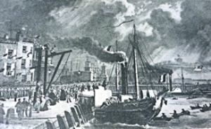 Embarking a steam packet ship in 1846. Grasemann-Mclachlan