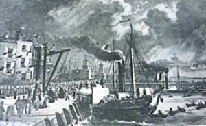 Embarking on a Packet ship 1846. Grasemann & McLachlan