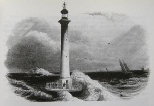Light of All Nations lighthouse on the Goodwin sands. LS Collection
