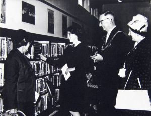 Opening of the Junior Library opened by Mayor Cyril Chilton 20.11.1963. Dover Library