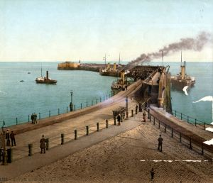 Admiralty Pier circa1900 showing the new extension. Dover Museum