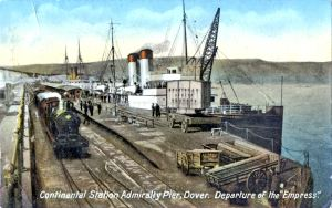 Admiralty Pier with the Empress alongside c1900. Dover Museum