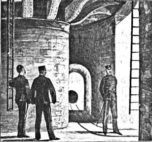 Admiralty Pier Turret circular passage. c1873. Dover Museum