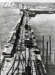 Admiralty Pier extension construction. Dover Museum