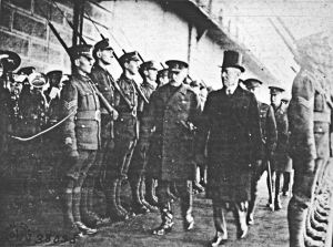 The arrival of American President Woodrow Wilson at Admiralty Pier on 26 December 1918. Dover Museum