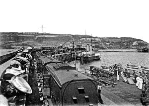 Admiralty Pier railway line and the 26068 circa1907. Nick Catford c1907