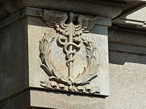 Marine Station, Medical symbol in recognition of the role the station played during World War I. Alan Sencicle