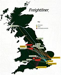 Freightliner Service that did not include the Channel Ports