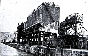 Aerial Ropeway Coal Staithe Eastern Arm. Railway Gazette January 1931