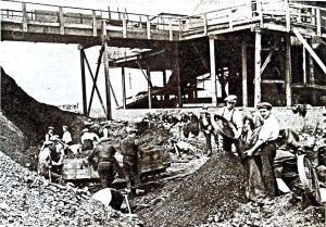 Miners - Pit-head workers c1924. Tom Robinson