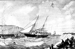 Possibly a Churchward ship, similar to the Violet, arriving at Dover harbour. Dover Museum