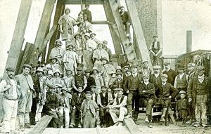 Tilmanstone colliery no 1 shaft reached the Beresford seam at 1,590-feet in March 1913. Dover Museum