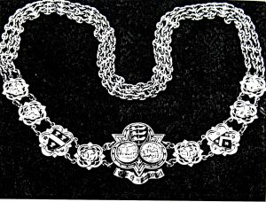 Chain and Badge of Office of the Mayor of Dover presented to the town by Dover's Recorder Sir William Bodkin in 1868