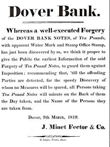 Fector bank Forgery Notice 1819
