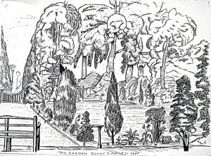 The Jarvis garden depicted by George Jarvis on 2 October 1831.